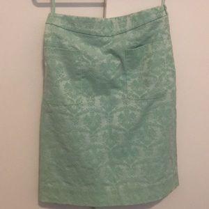 Light Mint Green skirt from Anthropologie